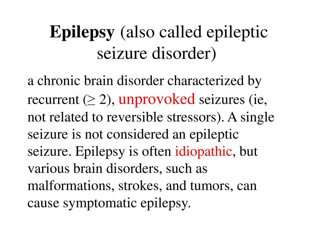 an analysis of a chronic disorder characterized by recurrent seizures 34 million americans suffer from epilepsy epilepsy is also known as a seizure disorder, is a diverse group of neurological disorders of varying types and severities which are characterized.