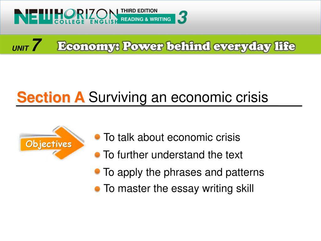 essay of economic crisis