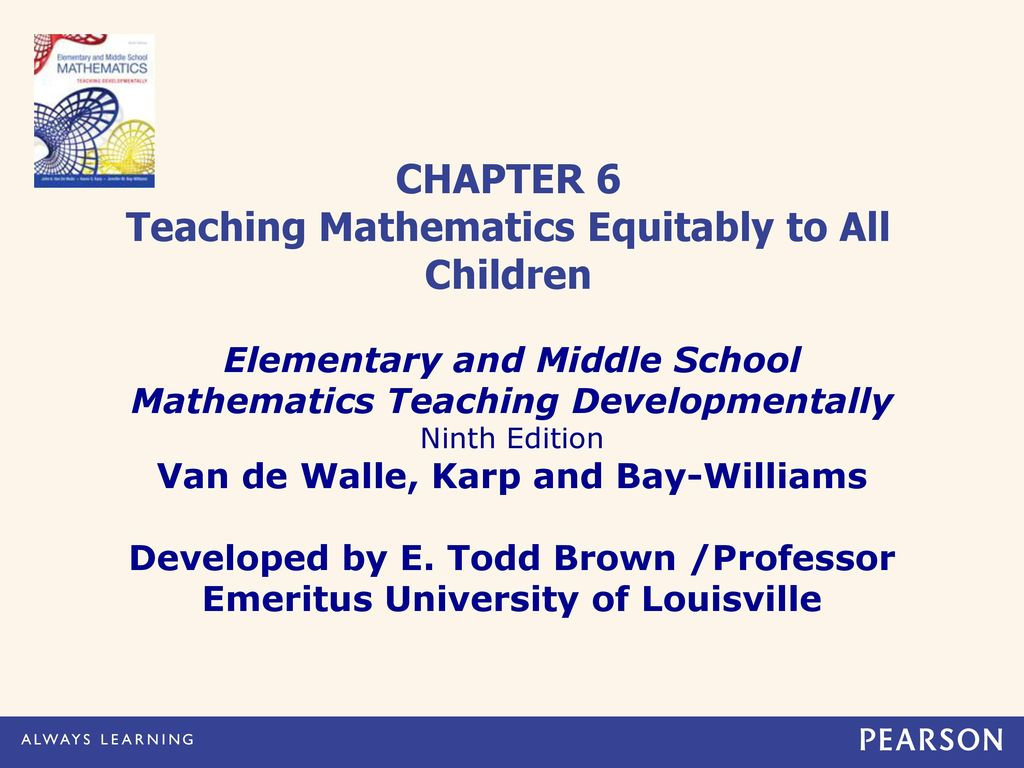 CHAPTER 6 Teaching Mathematics Equitably to All Children - ppt video ...