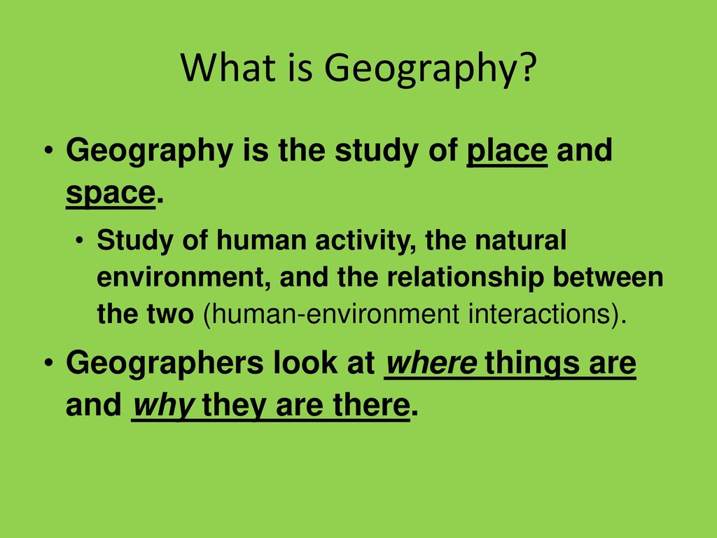 is there a relationship between geography and history