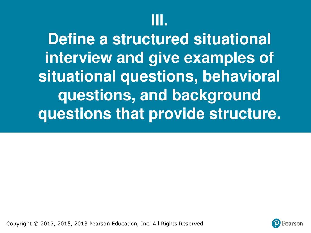 situational questions examples