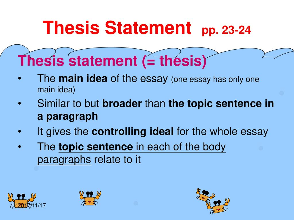 is a thesis statement only one sentence Thesis generator thesis statement guide development tool this is meant as a guide only, so we encourage you to revise it in a way that works best for you rephrase your thesis statement in the first sentence of the conclusion.
