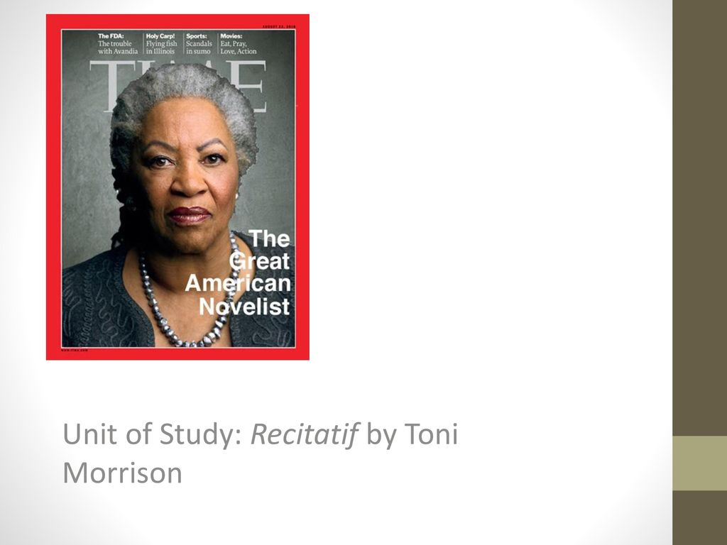 """mark sommers feldmans review of toni morrisons essay recitatif All about maggie, and memories, concerning the short story""""recitatif"""" by toni morrison, analysis by ray cates."""