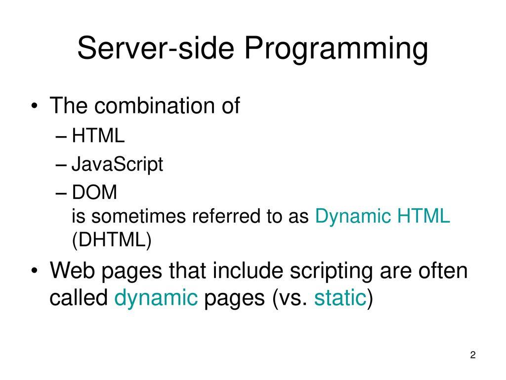 Lecture 10 server side programming java servlets ppt download 2 server side programming baditri Images