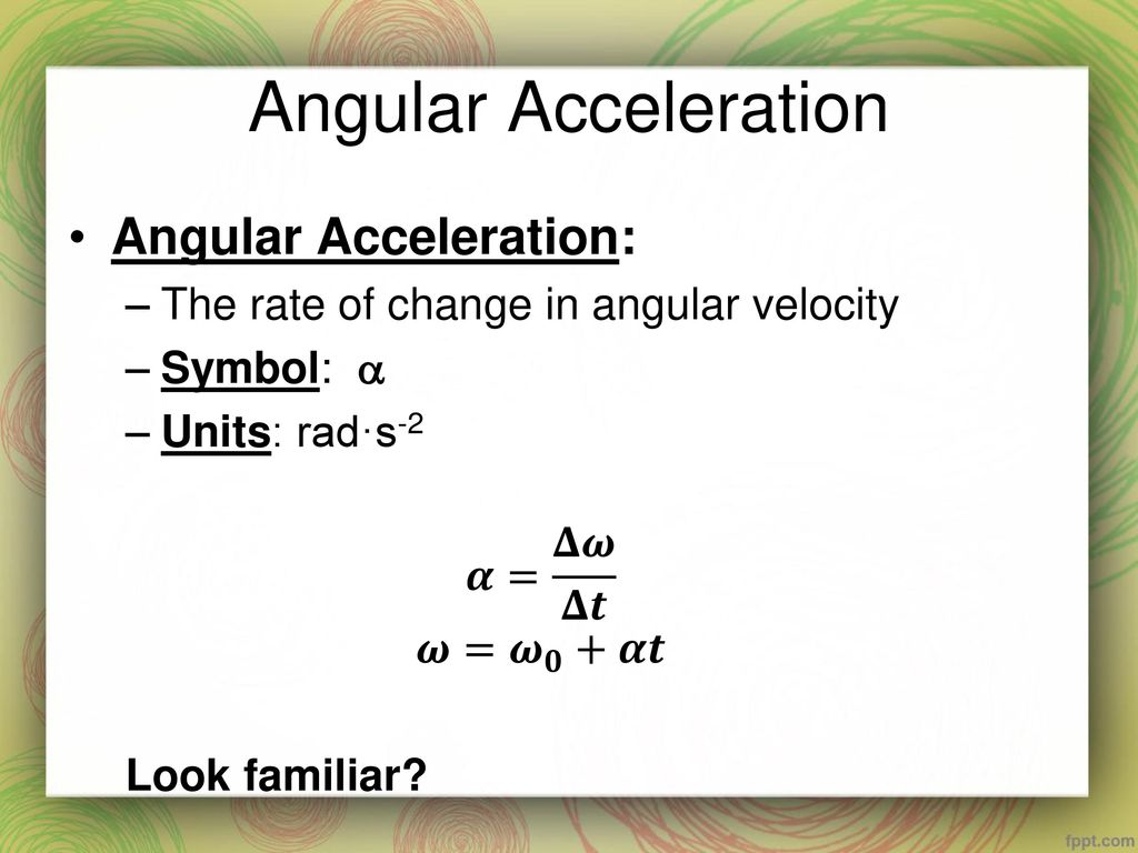 Warm up while watching the following video answer the following 7 angular acceleration biocorpaavc