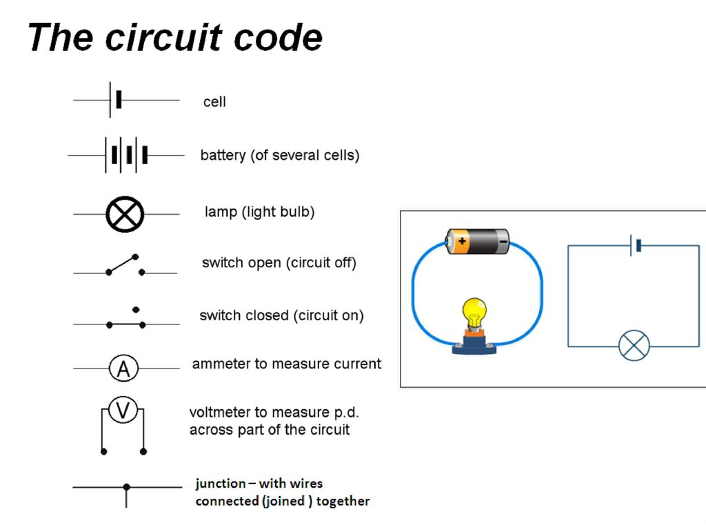 Four Circuits Draw A Line From Each Electrical Circuit To The With Switches In Parallel Lamp And Cell Breaking Code