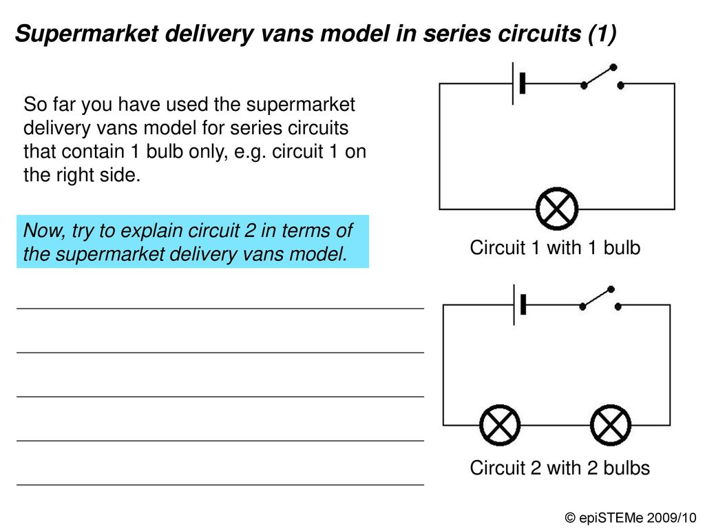 Four Circuits Draw A Line From Each Electrical Circuit To The What Happens Current In Other Lamps If One Lamp Series Supermarket Delivery Vans Model 2