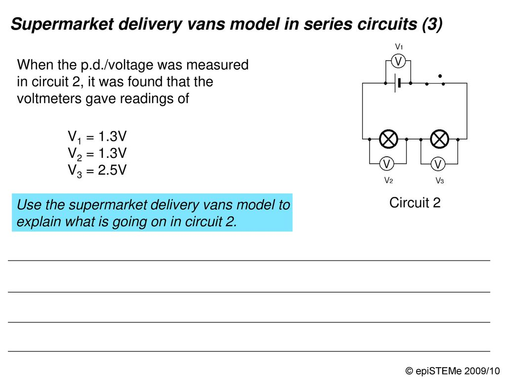 Four Circuits Draw A Line From Each Electrical Circuit To The Amperage In Series Is Rope Loop Model And Role Play Simulation