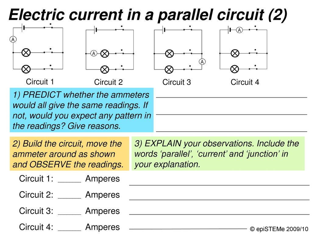 Four Circuits Draw A Line From Each Electrical Circuit To The Short Circuit4 57 Graphic