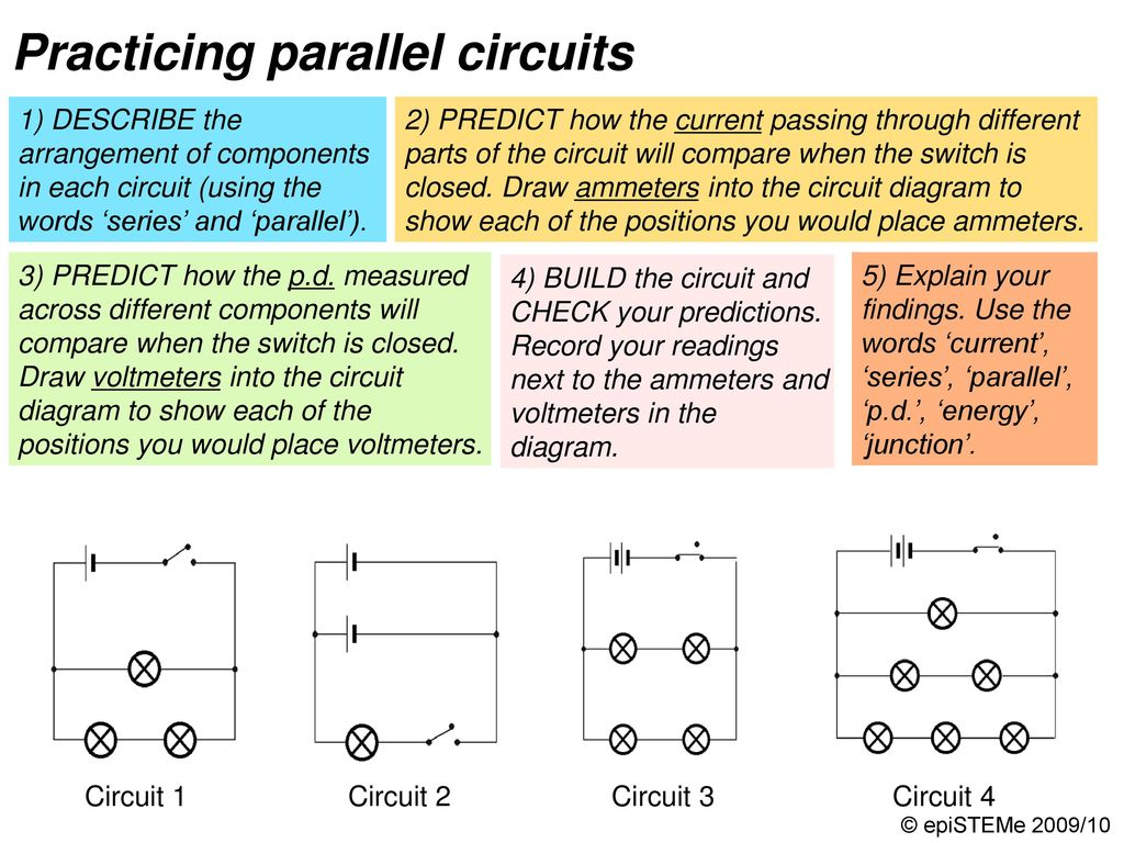 Four Circuits Draw A Line From Each Electrical Circuit To The Some Parallel Have Switches In As Shown Supermarket Delivery Vans Model Complex 1