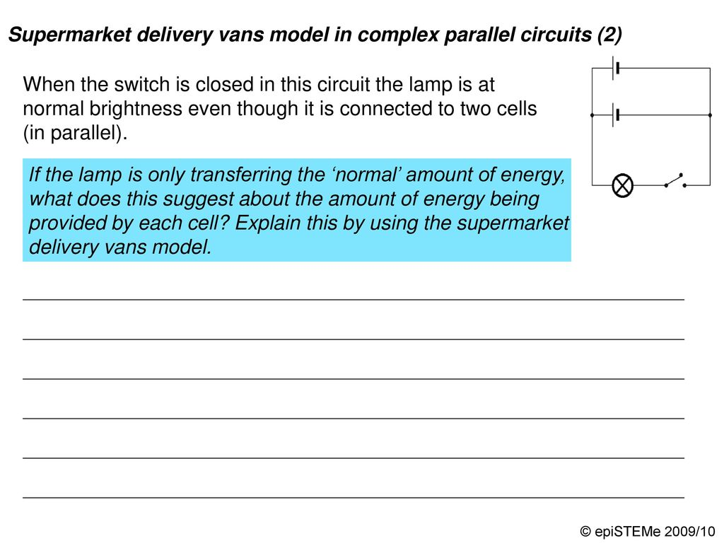 Four Circuits Draw A Line From Each Electrical Circuit To The Some Parallel Have Switches In As Shown Supermarket Delivery Vans Model Complex 3