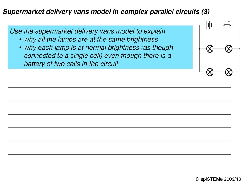 Four Circuits Draw A Line From Each Electrical Circuit To The Compare Series Parallel Dimmer Bulbs Supermarket Delivery Vans Model In Complex 4