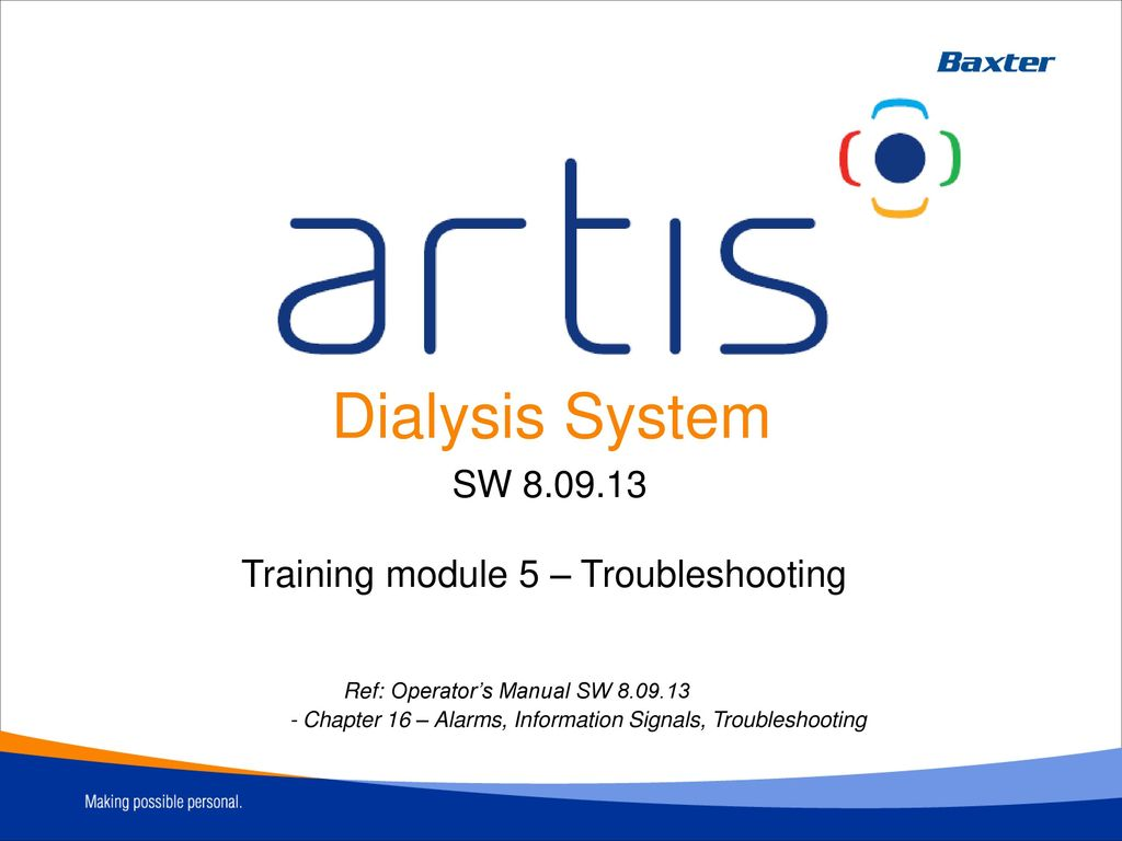 Training module 5 – Troubleshooting