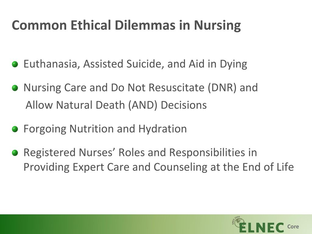 Euthanasia, Assisted Suicide, and Nursing