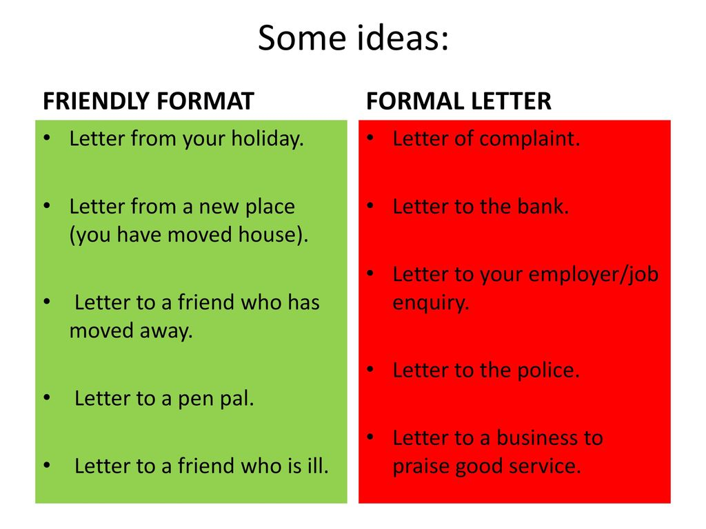 How to write a letter ppt