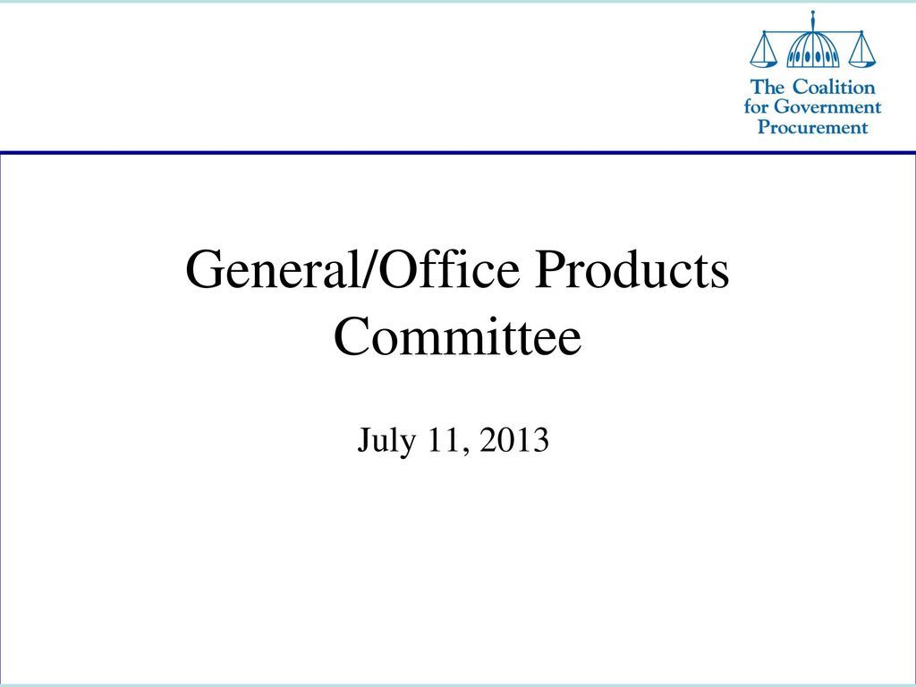 General Office Products Committee