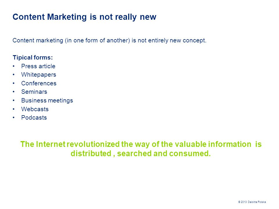 Content Marketing is not really new