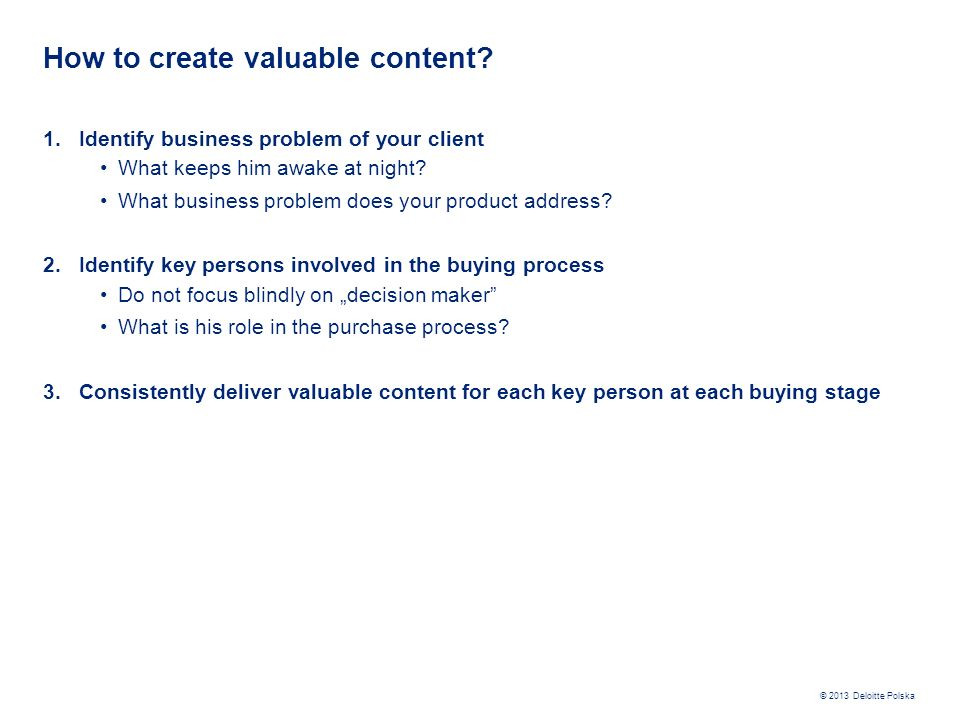 How to create valuable content