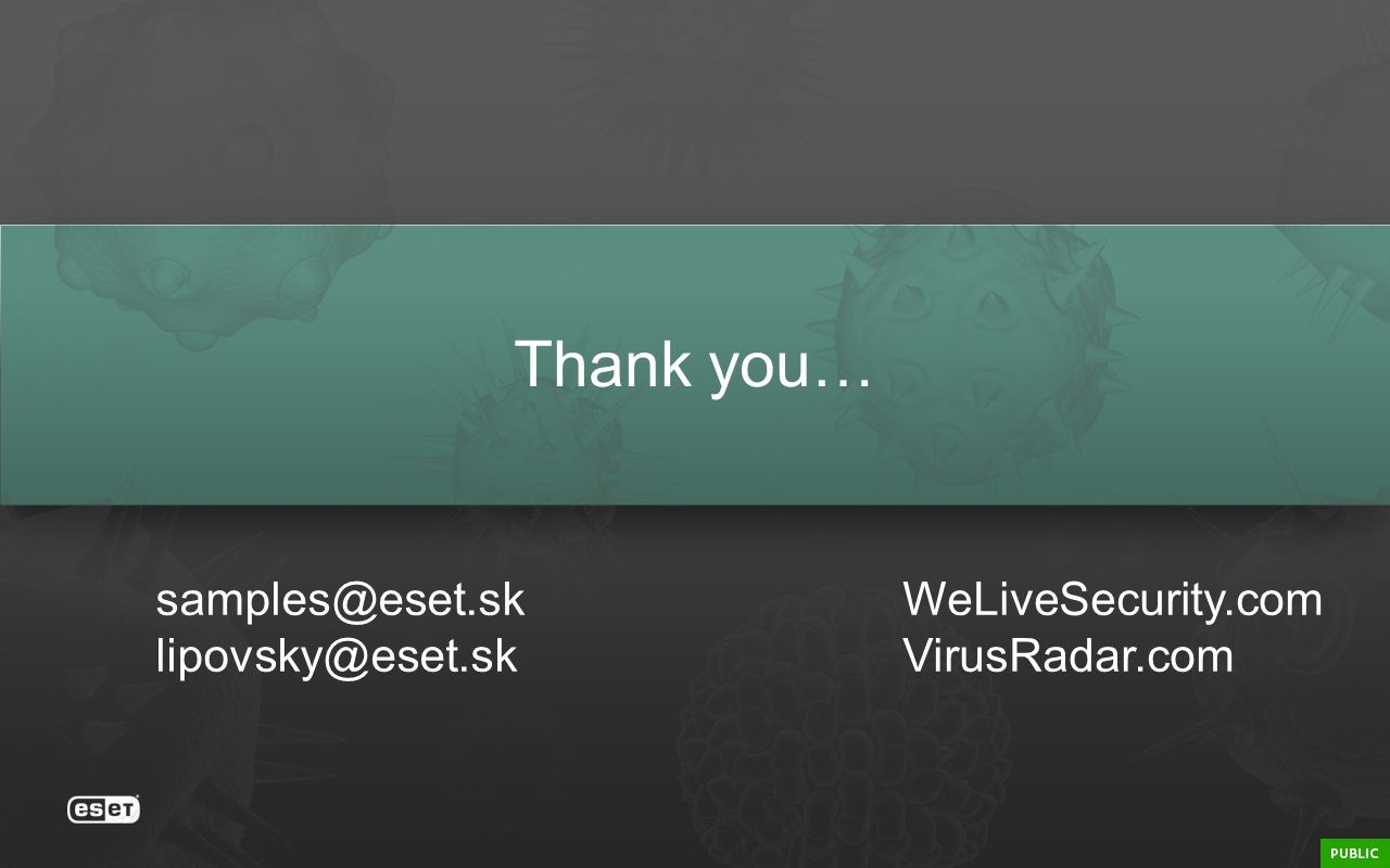 Thank you…  WeLiveSecurity.com