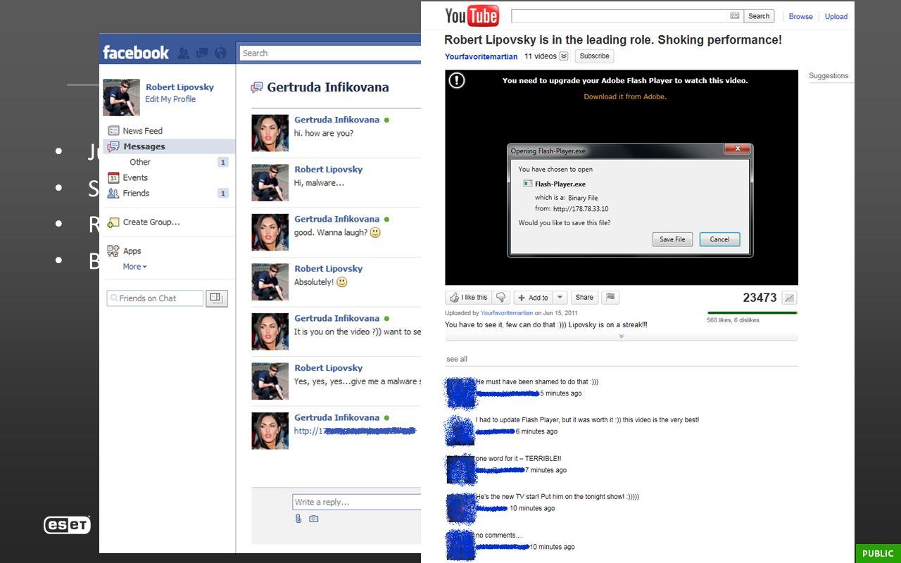 Win32/Delf.QCZ July 2011. Spread through Facebook & Vkontakte – improved social engineering. Removed AV in safe-mode.