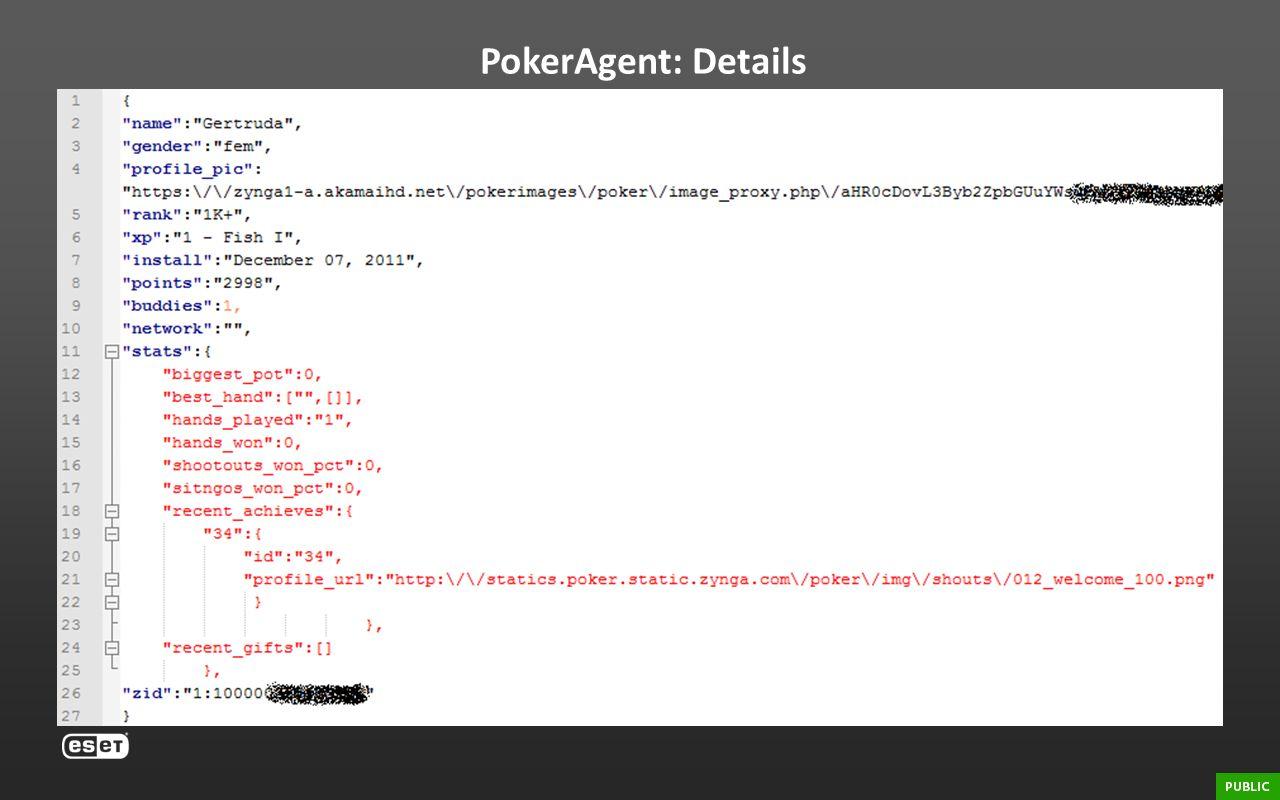 PokerAgent: Details Zynga Poker stats