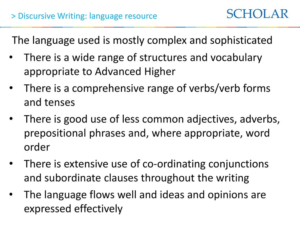 advanced higher french discursive essay Advanced higher french - discursive writing this is the piece of writing you are examples of higher english discursive essays required to software piracy essay do for paper ii of the external exam avis de décès de me ghislain k-laflamme.