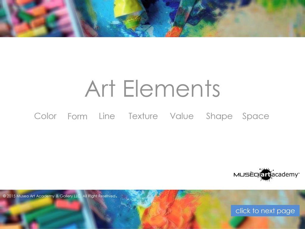 Line Color Form : Art elements and design principles ppt video online download
