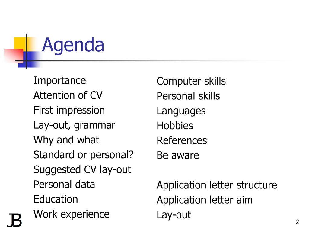 personal skills on a cv