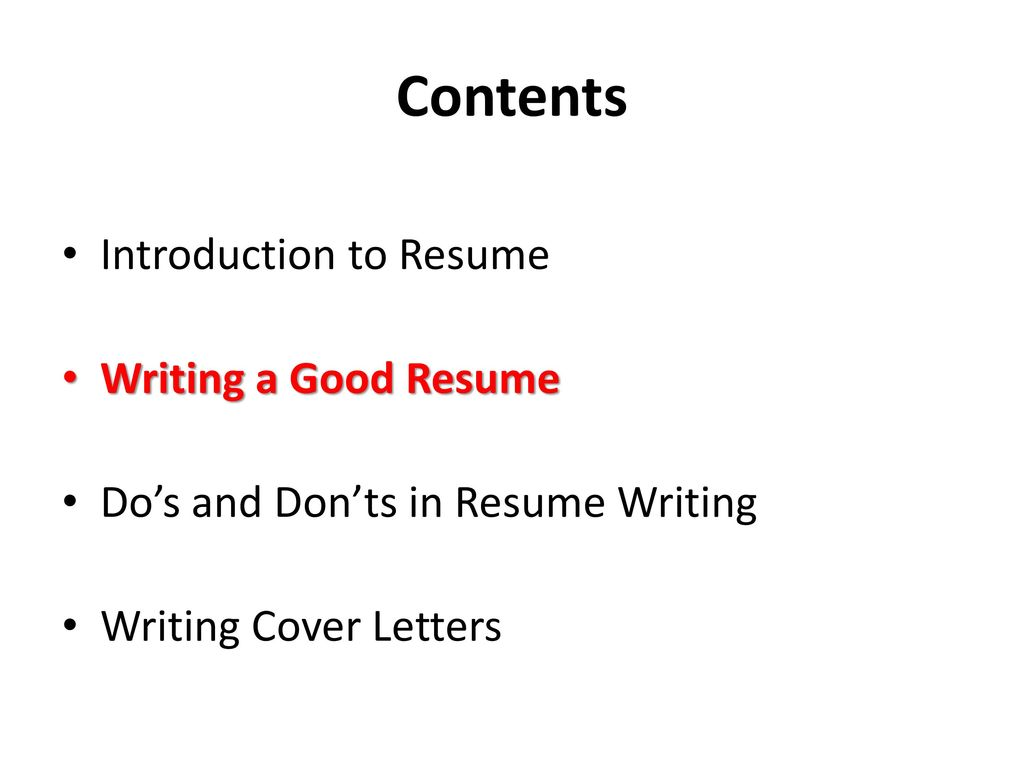 contents of a good resume koni polycode co