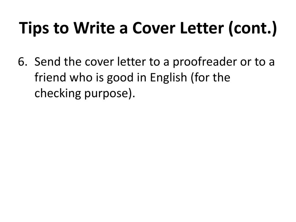 proofreader cover letter