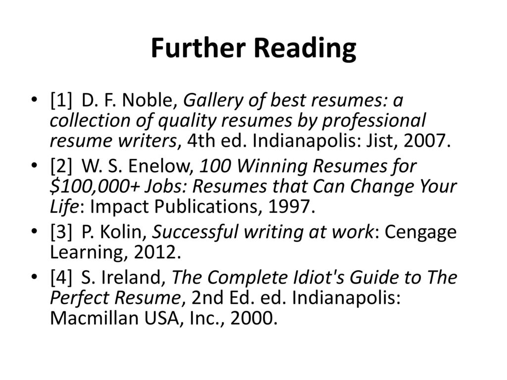 Fine Idiot S Guide To Resume Writing Picture Collection ...