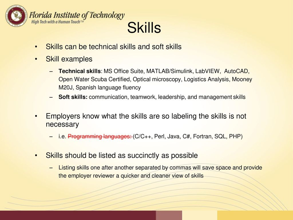 11 skills skills can be technical skills and soft skills skill examples