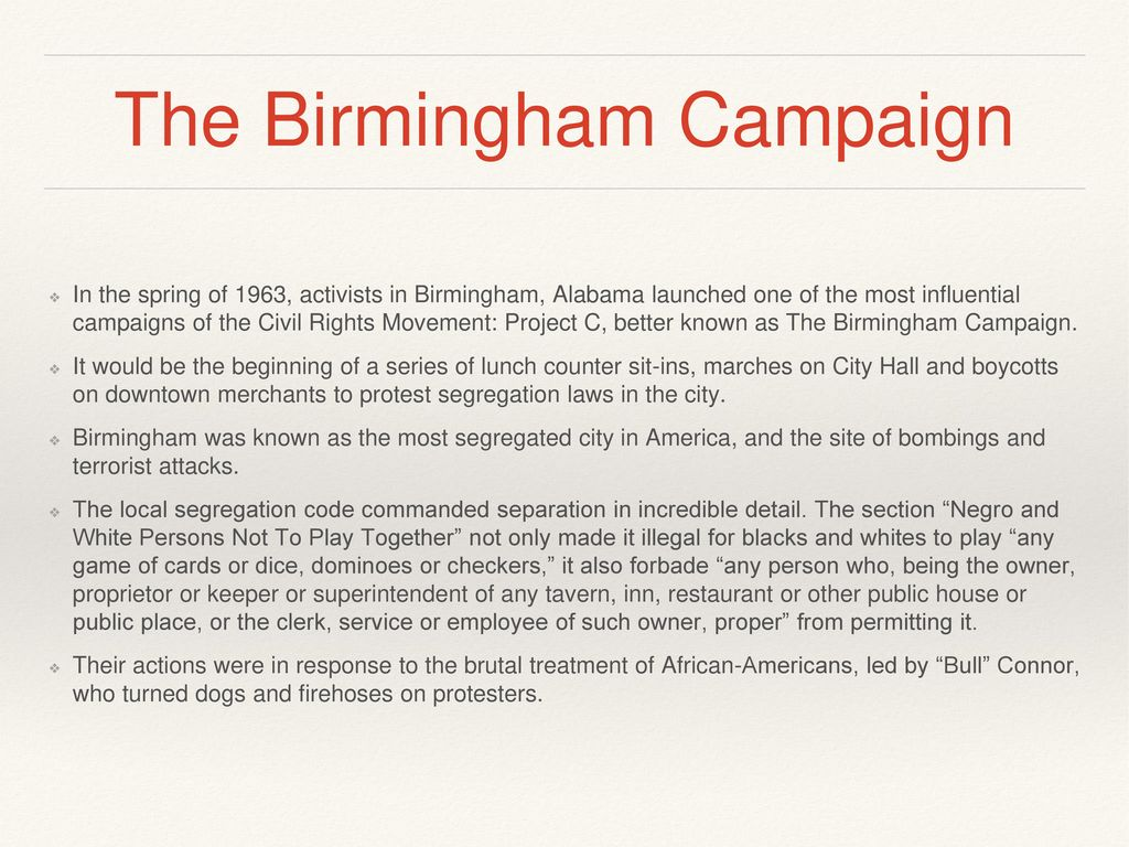 worksheet Civil Rights Movement Worksheets letter from a birmingham ppt video online download 7 the campaign