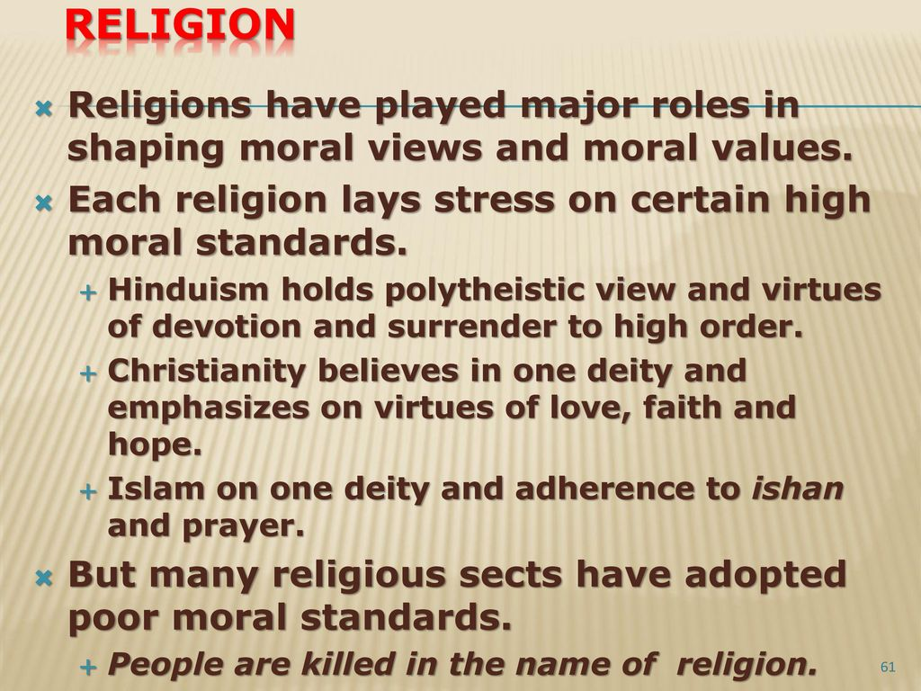 do religious people have higher moral standards But christianity does have behavioral standards  to do was to teach people to obey everything i have  as the measurement of how religious.