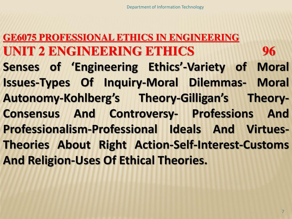professional ethics in information technology pdf
