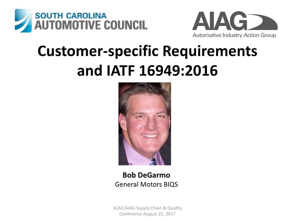Iatf 16949 2016 update and automotive qms transition for Gm motors customer service