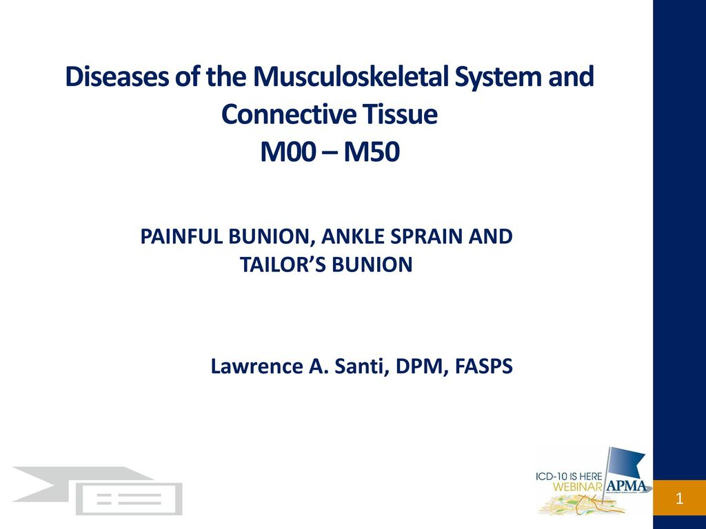 Diseases of the Musculoskeletal System and Connective Tissue M00 – M50