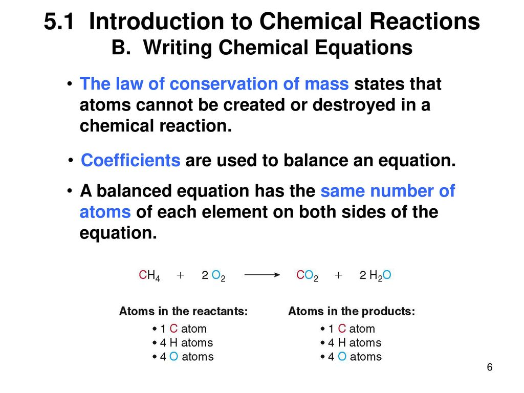 writing chemical equations The purpose of writing a balanced chemical equation is to know: the reactants (starting material) and products (end results) that occur the ratios in which they react.