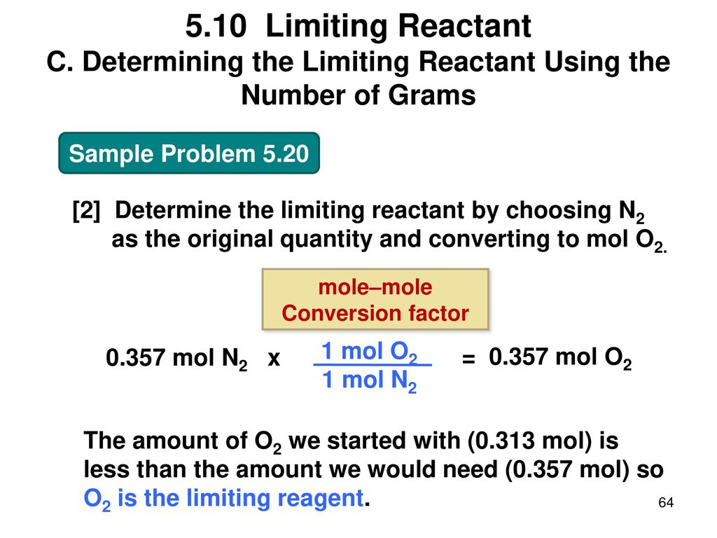 determining the limiting reactant and the To accommodate visual learners, a graphical methodology is incorporated that  determines the limiting reagent as the reactant that is exhausted first while.