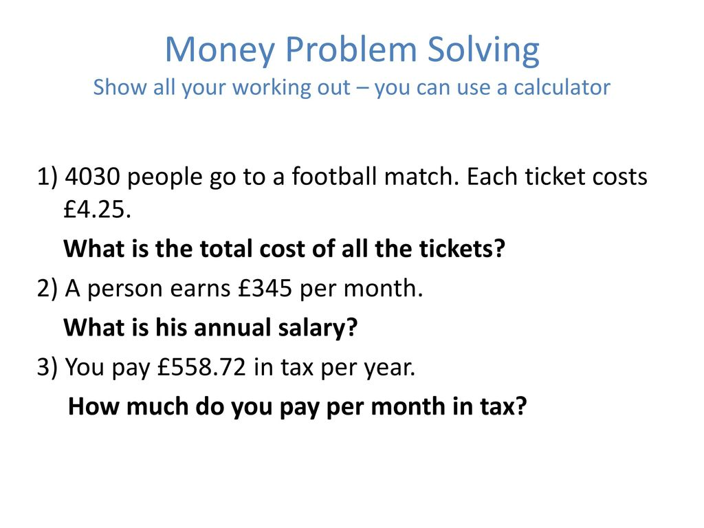 Problem solving with decimals ppt download 2 money nvjuhfo Gallery