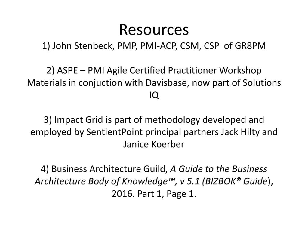 Managing safe with business architecture ppt download resources 1 john stenbeck pmp pmi acp csm csp of 1betcityfo Images