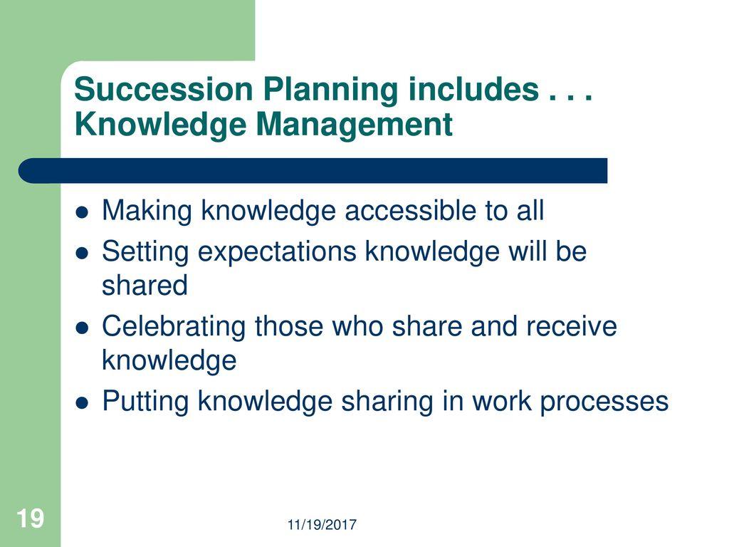 succession plan example