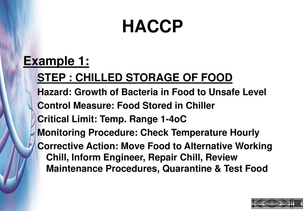 In house training course for ppt video online download - Procedure haccp cuisine ...