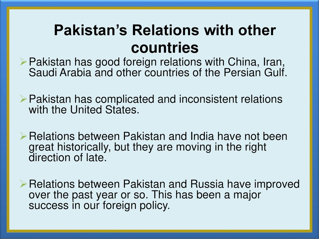 the relations of pakistan and russia The shared regional security interests between beijing and moscow have meant that the newly independent states of central asia—kazakhstan, kyrgyzstan, tajikistan, turkmenistan, and uzbekistan—have become a generally unifying element in chinese-russian relations.