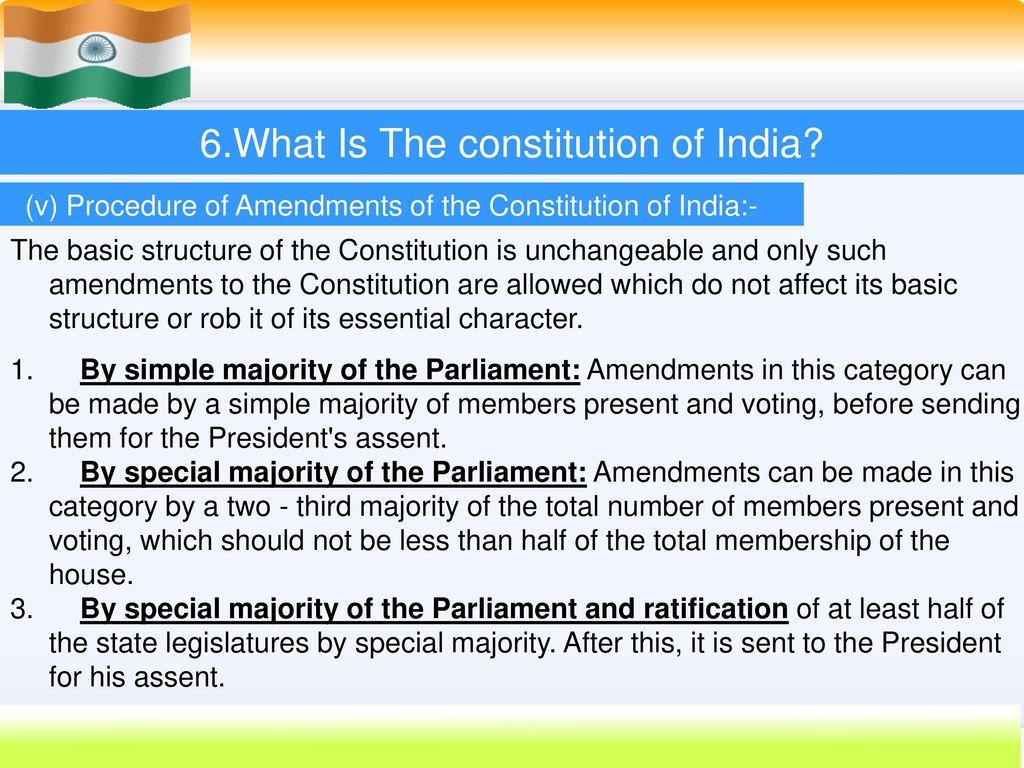 INDIAN CONSTITUTION.