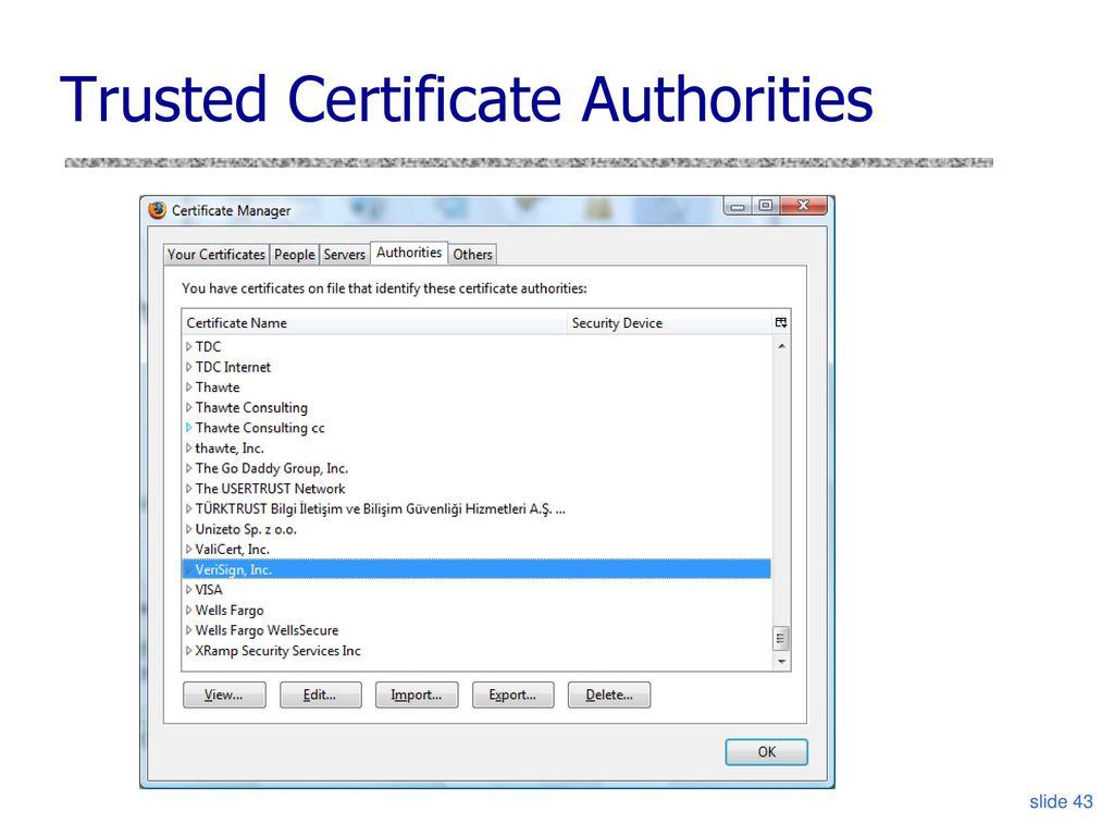 Cs 6431 ssltls vitaly shmatikov ppt download 43 trusted certificate authorities xflitez Image collections