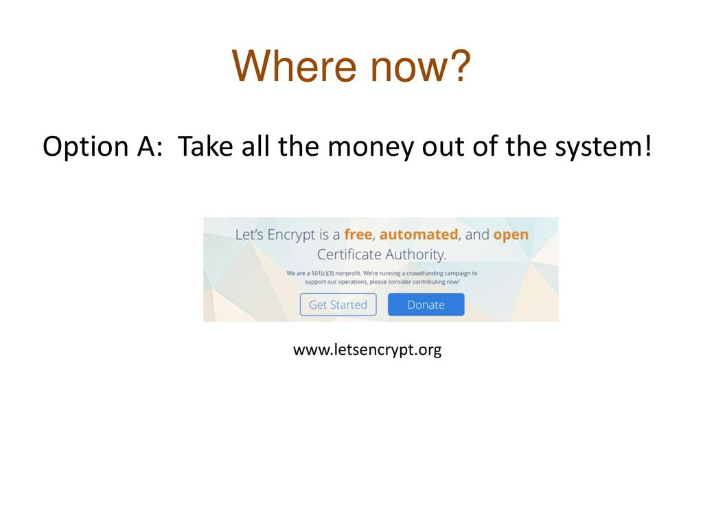 Where now Option A: Take all the money out of the system!