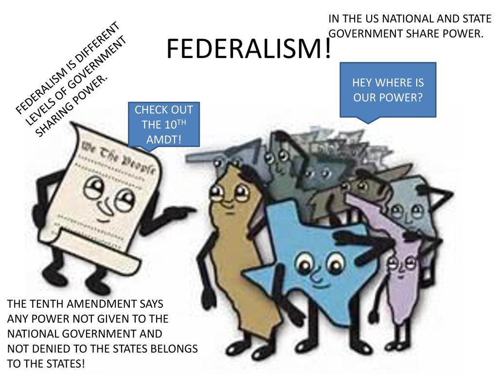 federalism federal government of the united Throughout united states history, individuals have argued that the states are better  advocates of dual federalism argue that the national government cannot .