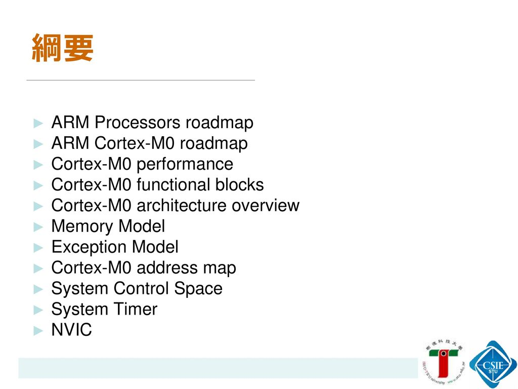 arm cortex m0 instruction set