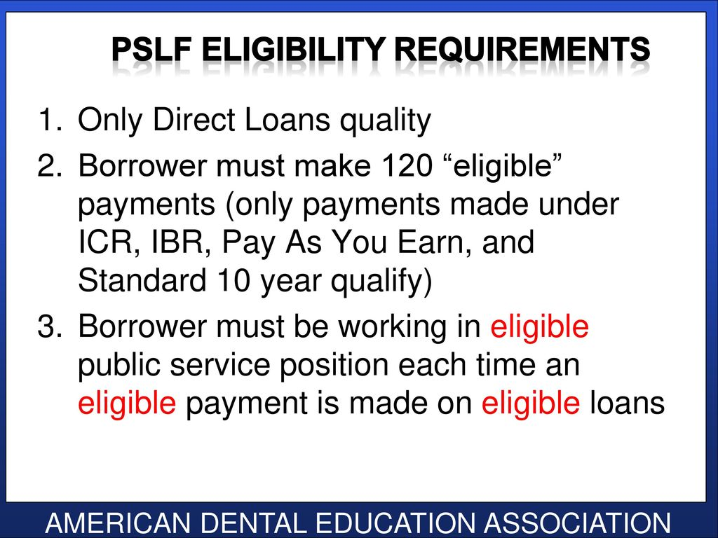 Senior loan exit interview class of ppt download 48 pslf eligibility requirements 1betcityfo Image collections